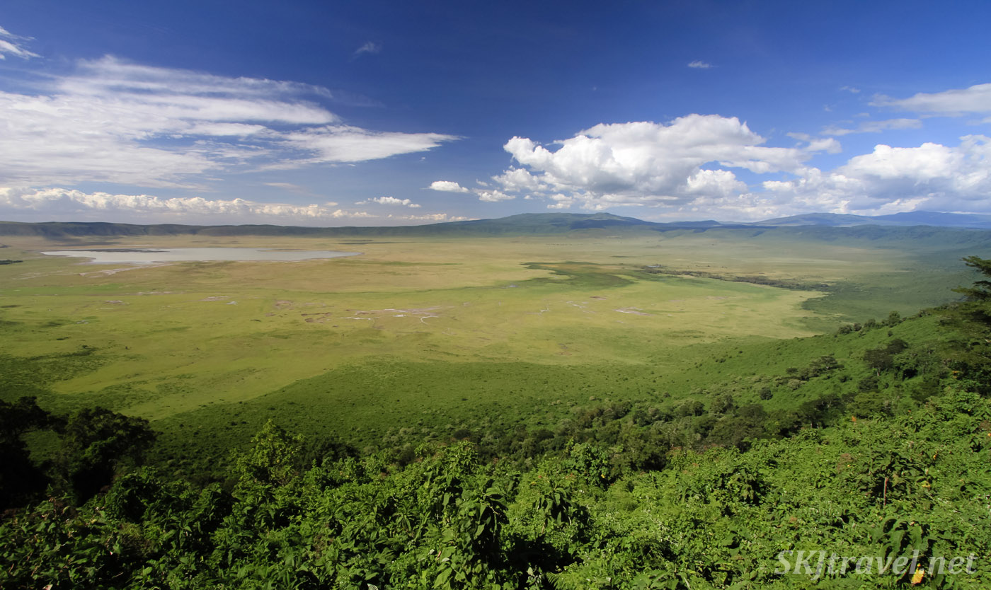 Looking down on Ngorongoro Crater, Tanzania.
