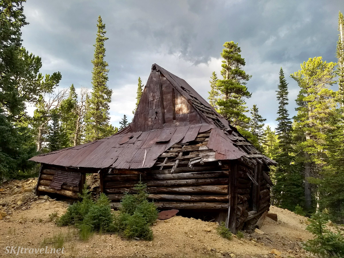 Old mining shaft house along a 4x4 route to Gamble Gulch. Outside Rollinsville, Colorado. August 2019.