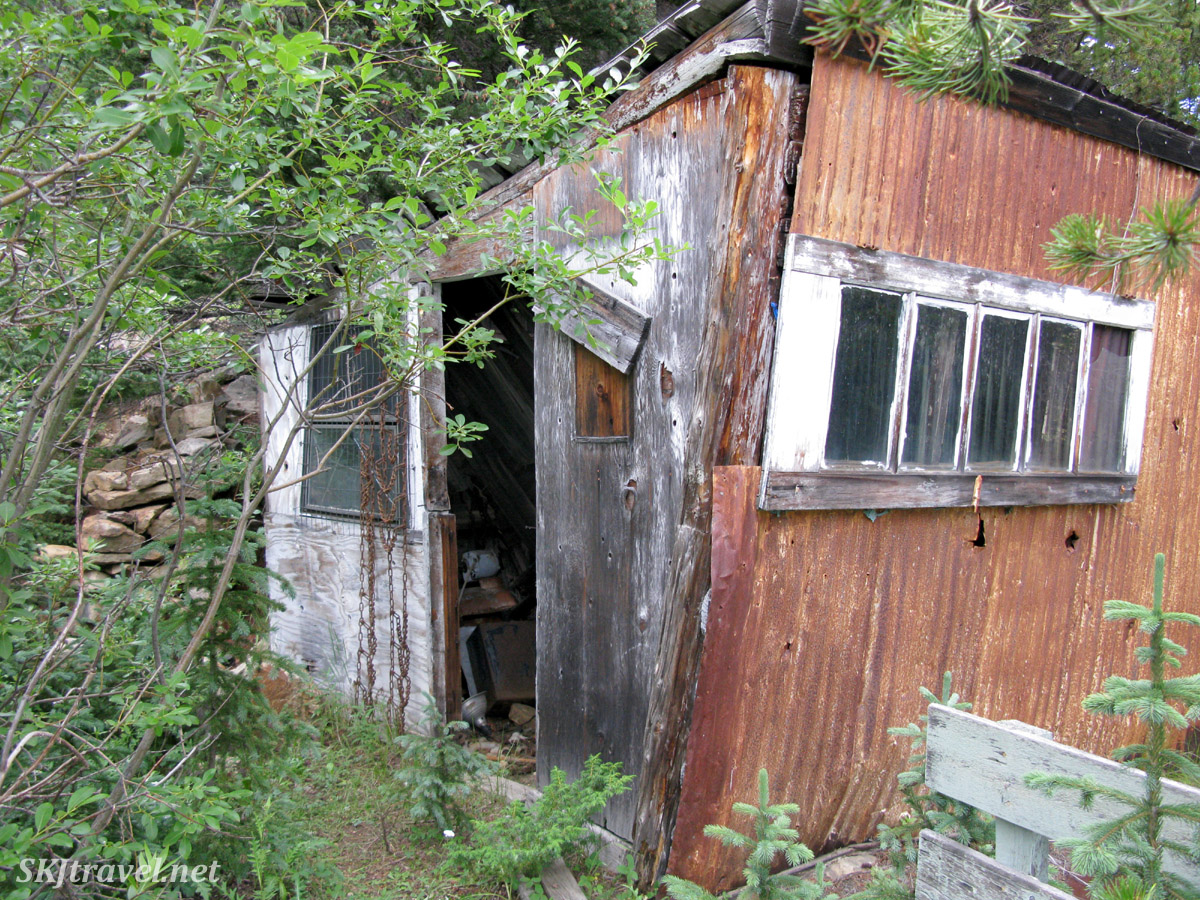 Abandoned mining cabin along 4x4 route to Gamble Gulch near Rollinsville, Colorado. July 2013.