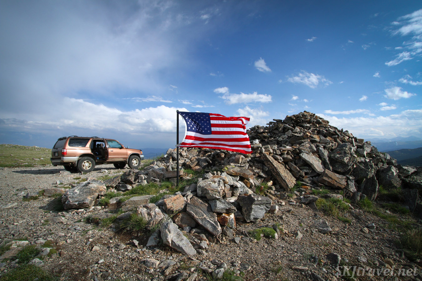 The Rock House at the top of Kingston Pass, Colorado 4x4 trail.