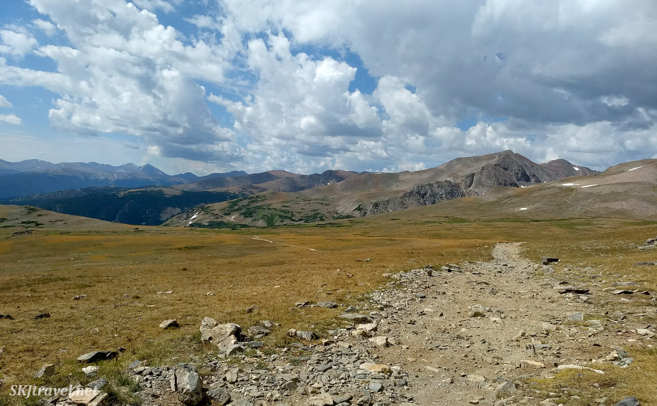 On top of Kingston Pass 4x4 trail, Colorado.