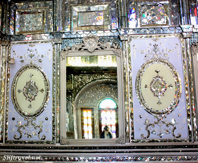 Me taking my picture in a mirror inside Golestan Palace, Tehran, Iran.