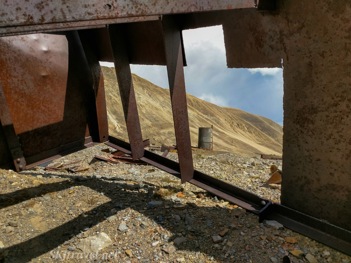 Rusting ruins at Dauntless Mine near Fairplay, Colorado.