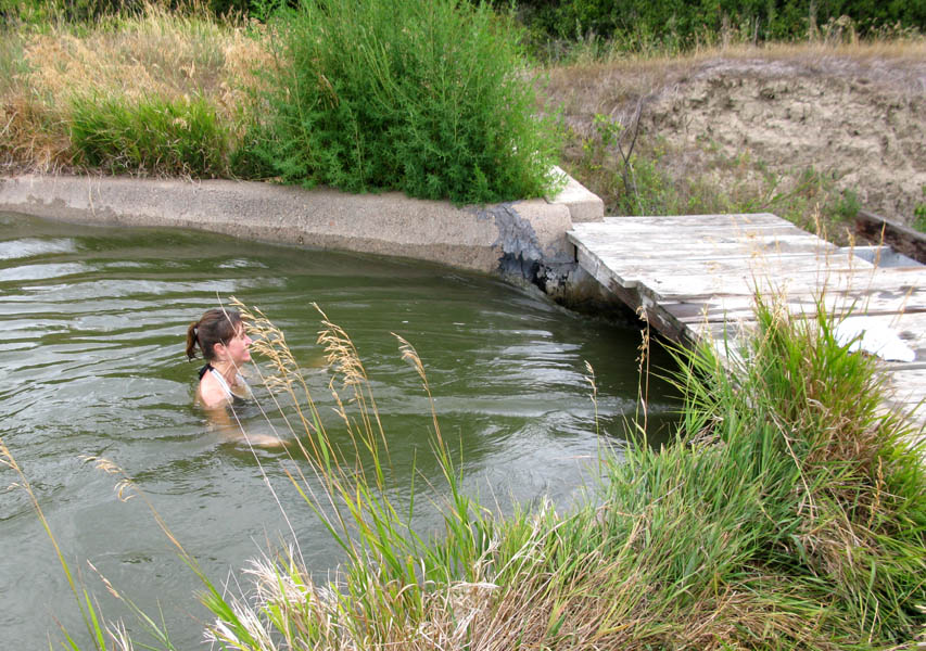 Entering the flume in my aunt and uncle's pasture. Cozad, Nebraska.