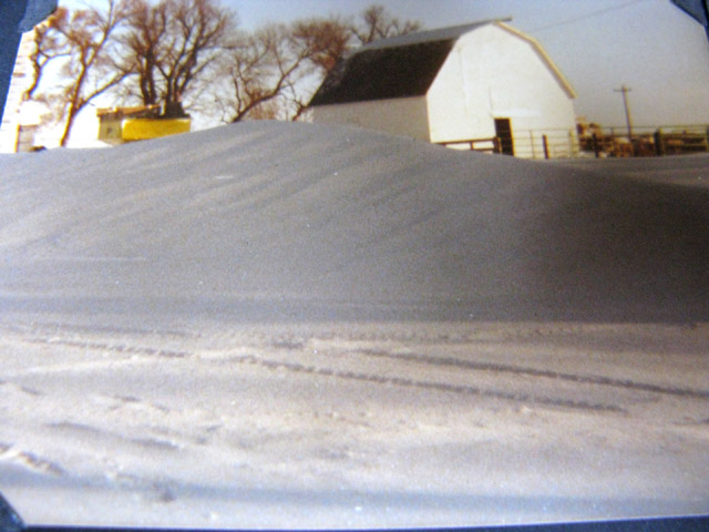 Snow storm at my grandparents' farm. Cozad, Nebraska.