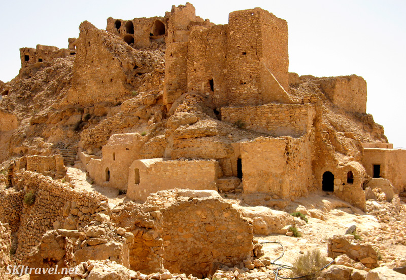 Abandoned hilltop ksar village of Douiret,Tunisia.
