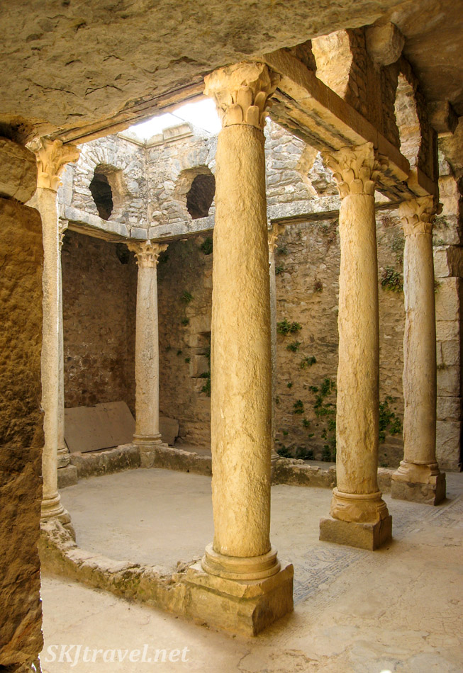 Courtyard in an underground villa at the ancient Roman city of Bulla Regia, Tunisia.