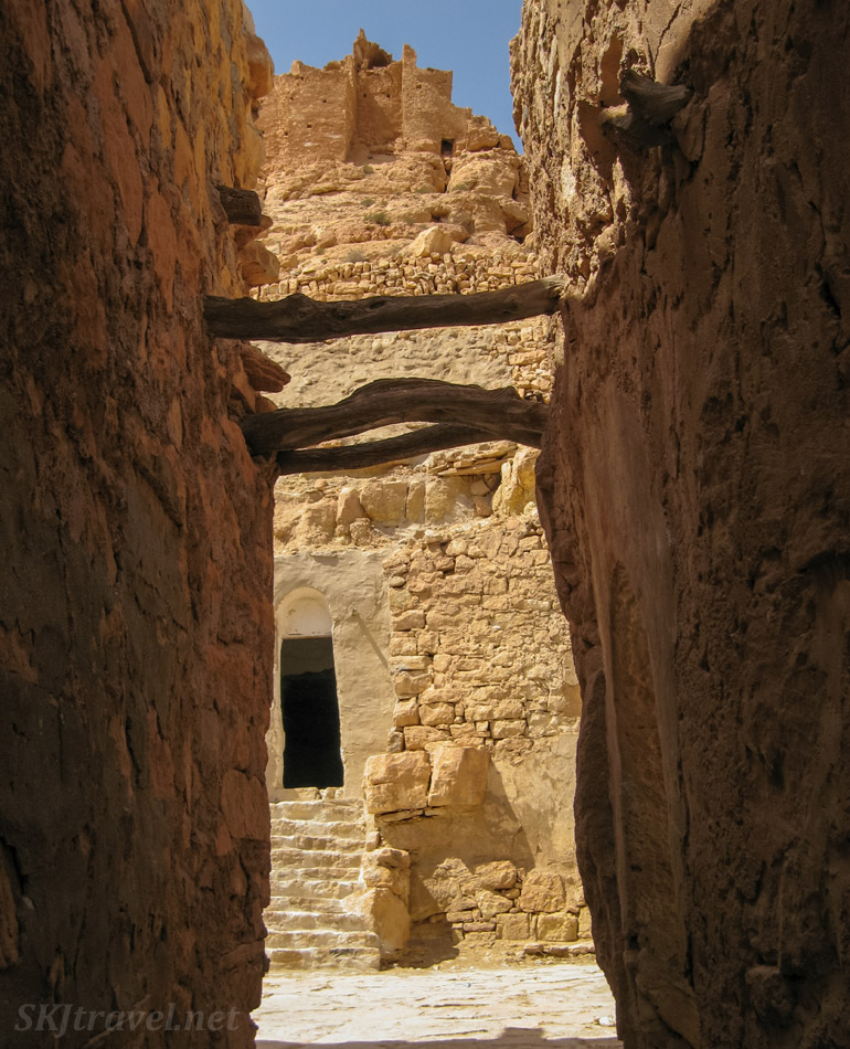 Inside the ksar, Douiret, Tunisia, near Tataouine.
