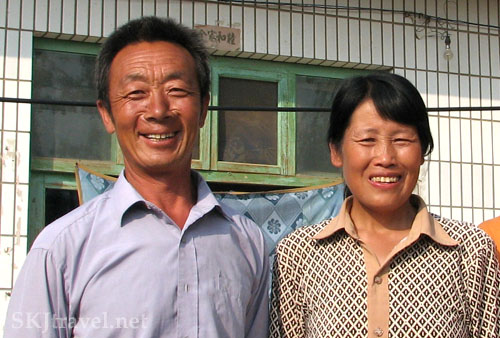 Chinese peasant couple in village in Shaanxi Province, China. Photo by Shara Johnson