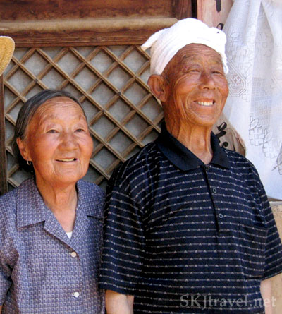 Elderly Chinese peasant couple in Shaanxi Province, China. Photo by Shara Johnson