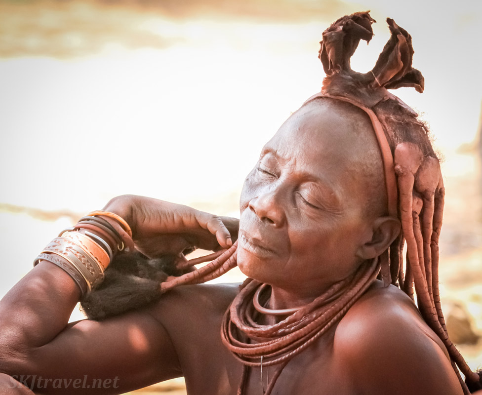 Eldest wife of Chief Kapika, Kunene region of Kaokoland, Namibia.