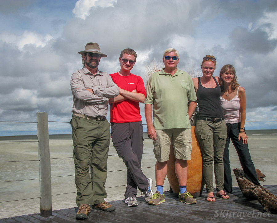 Berrie and the crew at Etosha National Park ... a day of fun and relaxation after 2 weeks of filming for The African Witchfinder.