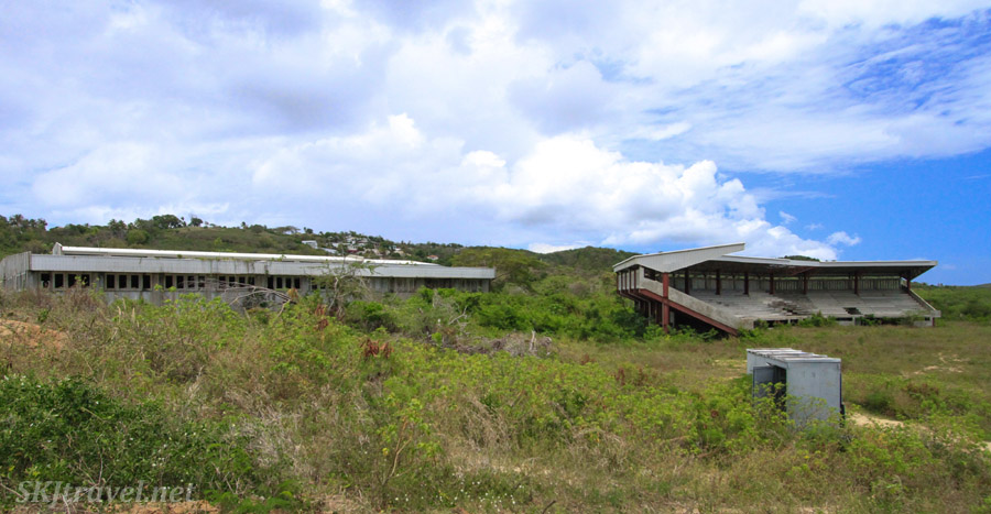 Abandoned grandstand, Vieques, Puerto Rico.