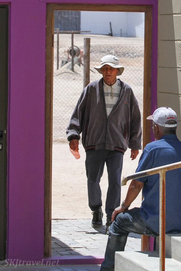 Hein walking the grounds, an Alzheimer's patient at the ADN care farm near Swapkopmund, Namibia.