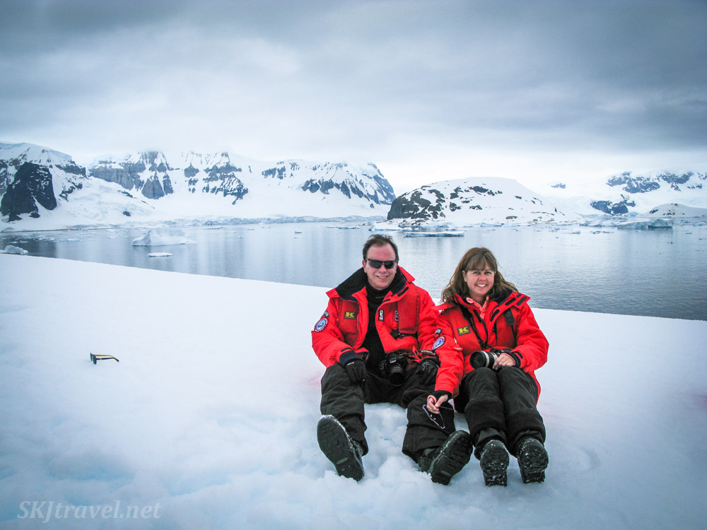 Erik and Shara in Antarctica!