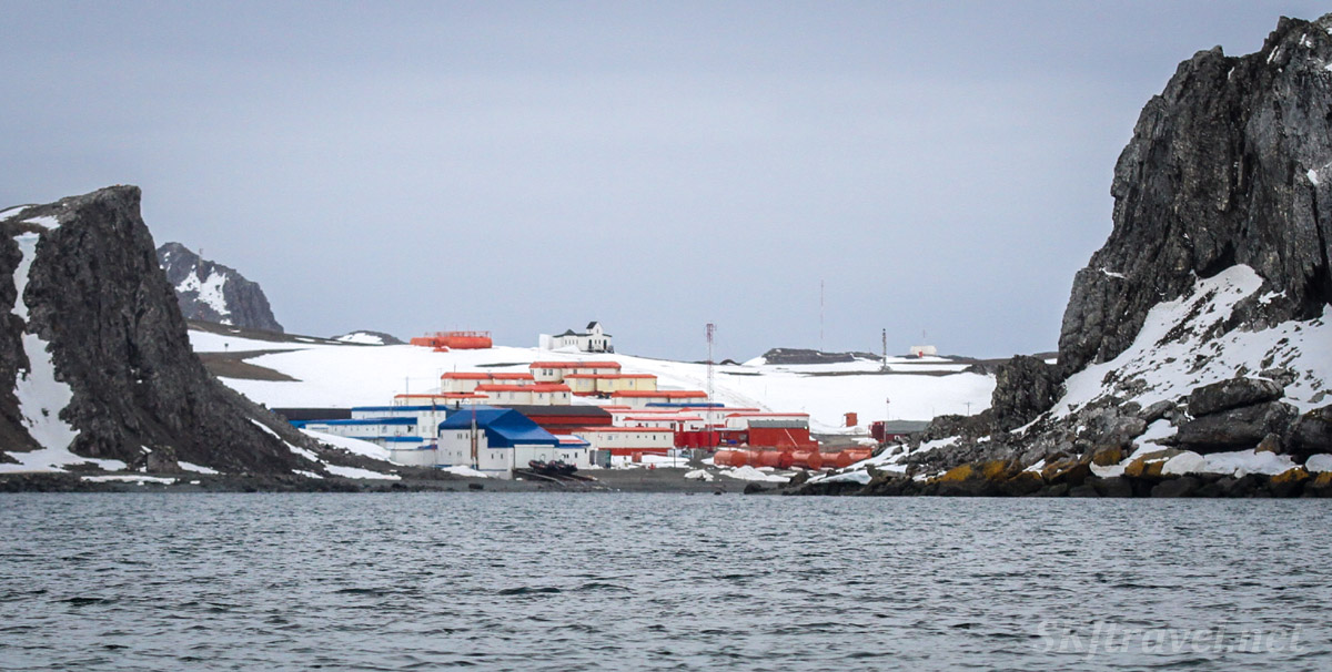 Russian Antarctic research station.