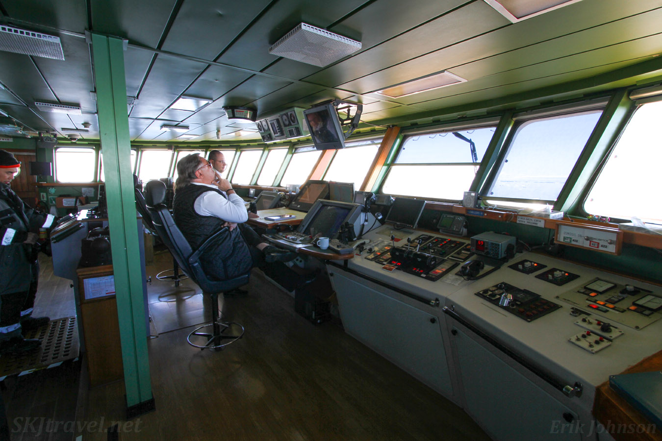 The bridge of the m/v Sea Spirit, sailing in Antarctica.