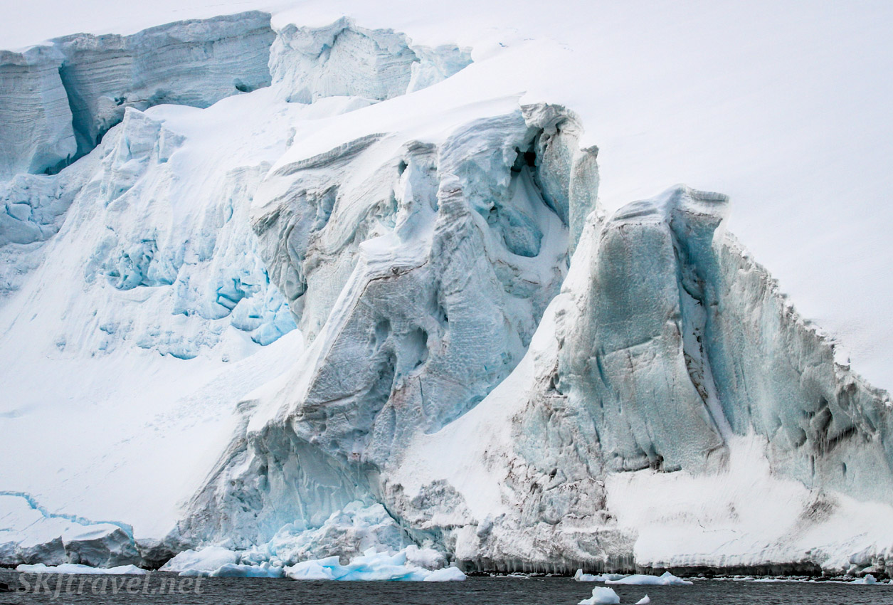 Face of a glacier, Antarctica.
