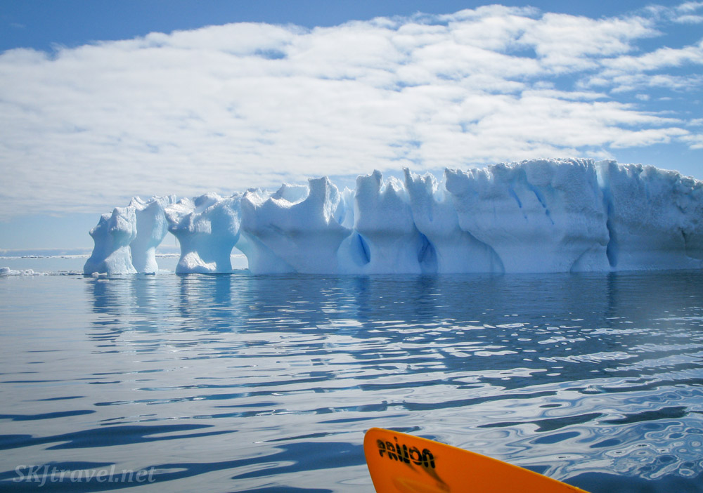 Iceberg encountered while kayaking at Brown Bluff in the Antarctic Sound.