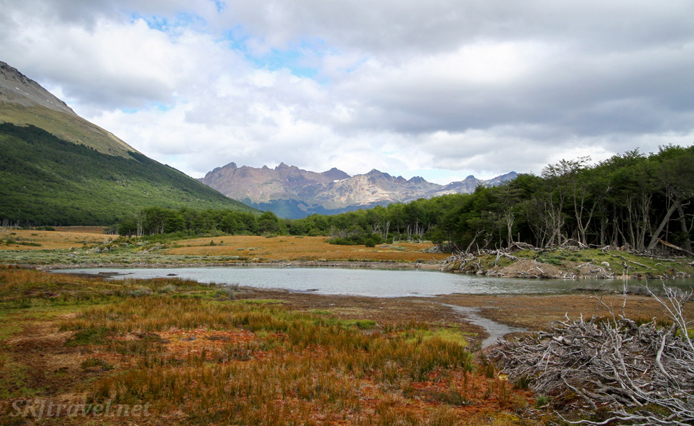 Perfect spot for a picnic lunch, along the trail to Lake Esmeralda near Ushuaia, Argentina.