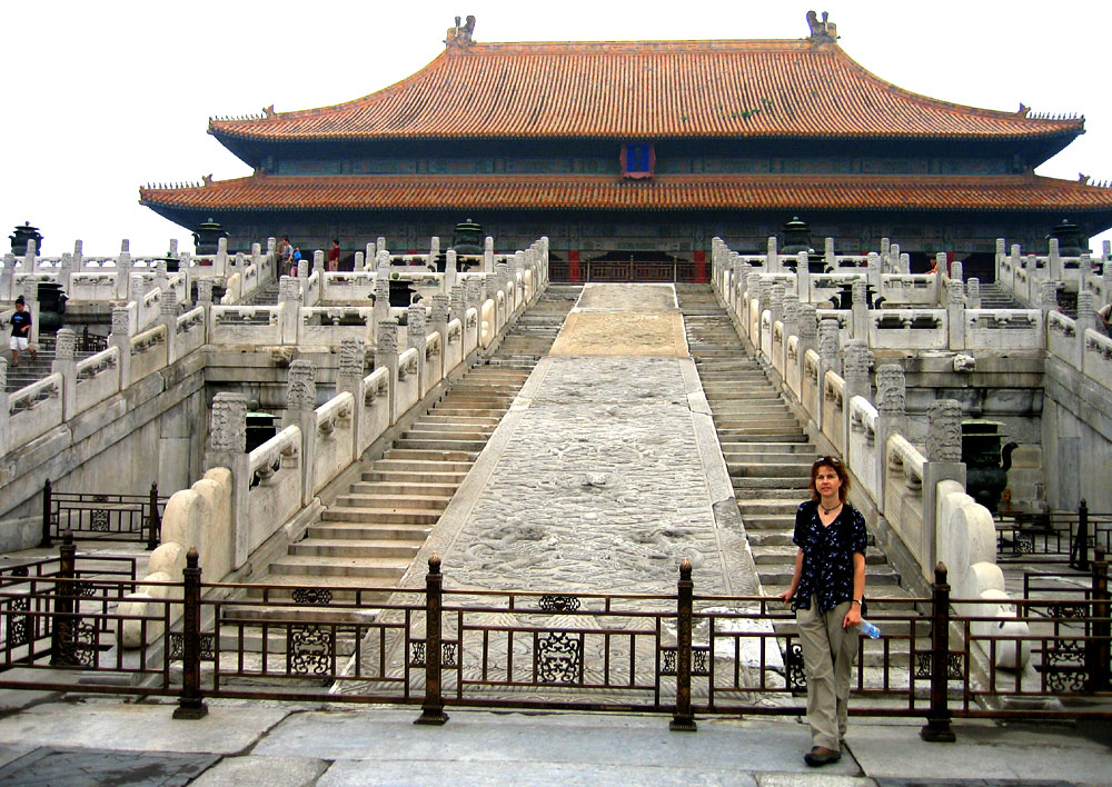Me in the Forbidden City, Beijing, China.