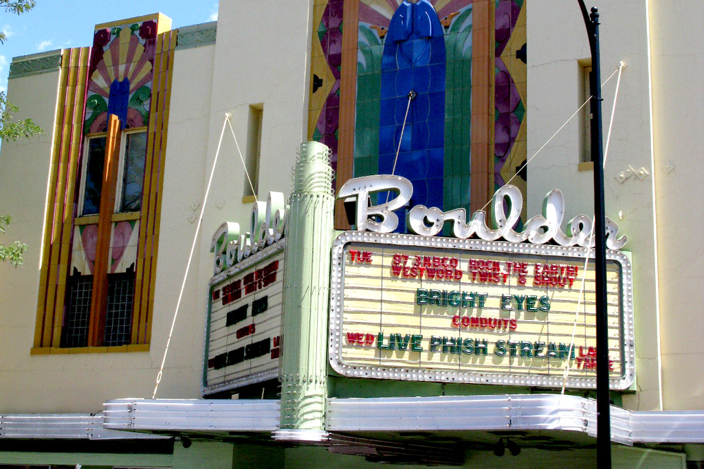 The Boulder Theater, Boulder, Colorado.