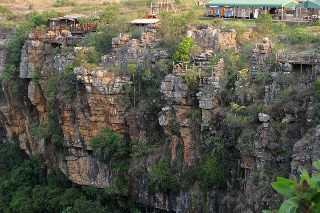 Sheer cliffs outside Mogodi Lodge, South Africa.