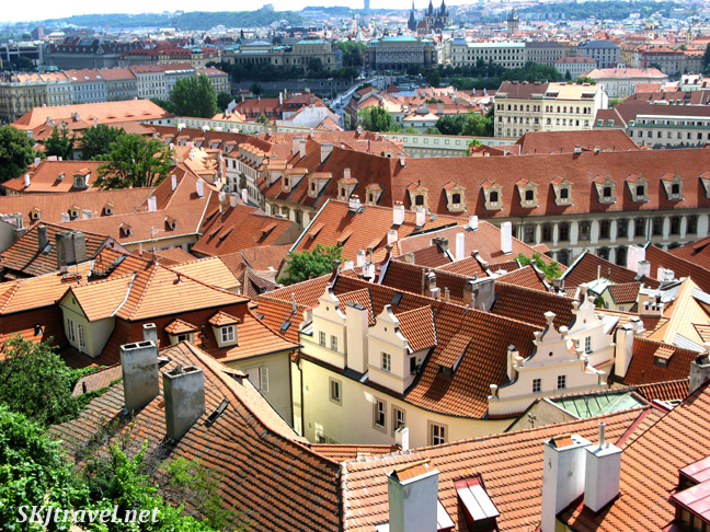 Overlook of the city. Prague.