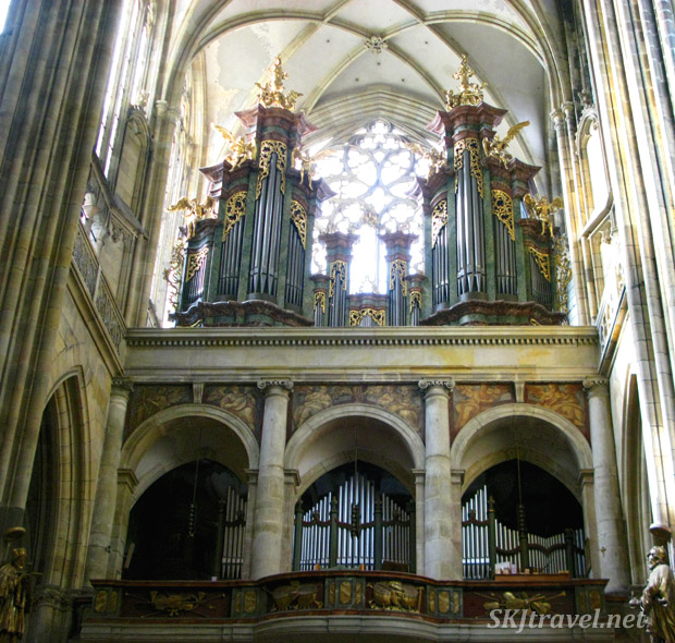 Beautifully arranged organ pipes ... imagine how they must sound. St. Vitus Cathedral, Prague.