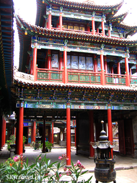 Courtyard in Gao Miao temple, Zhongwei, China.