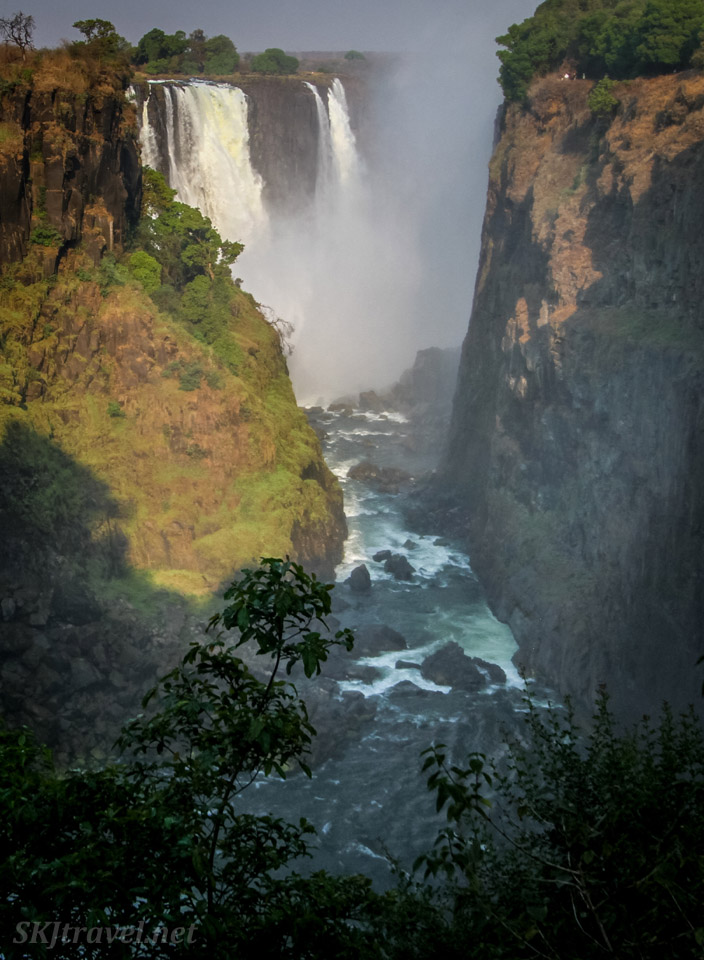 Victoria Falls viewed from Zimbabwe.
