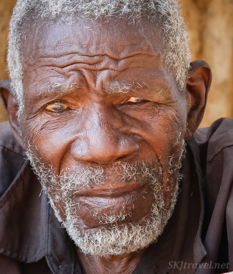 Father of a witch doctor in Divundu, Namibia.