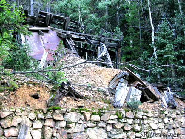 Closed down old mine. Gamble Gulch Road, Rollinsville, Colorado.