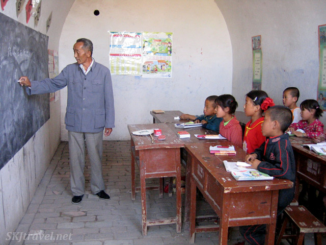 Inside the primary school classroom in a yao in rural village of Dang Jiashan, northern Shaanxi province, China.