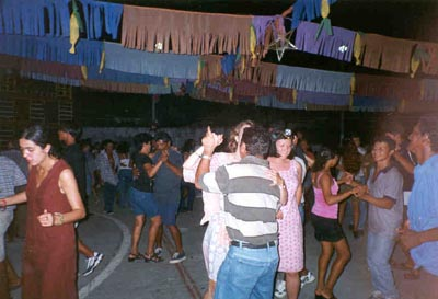 Iki dancing with me at a community dance in Pirabas, Brazil.