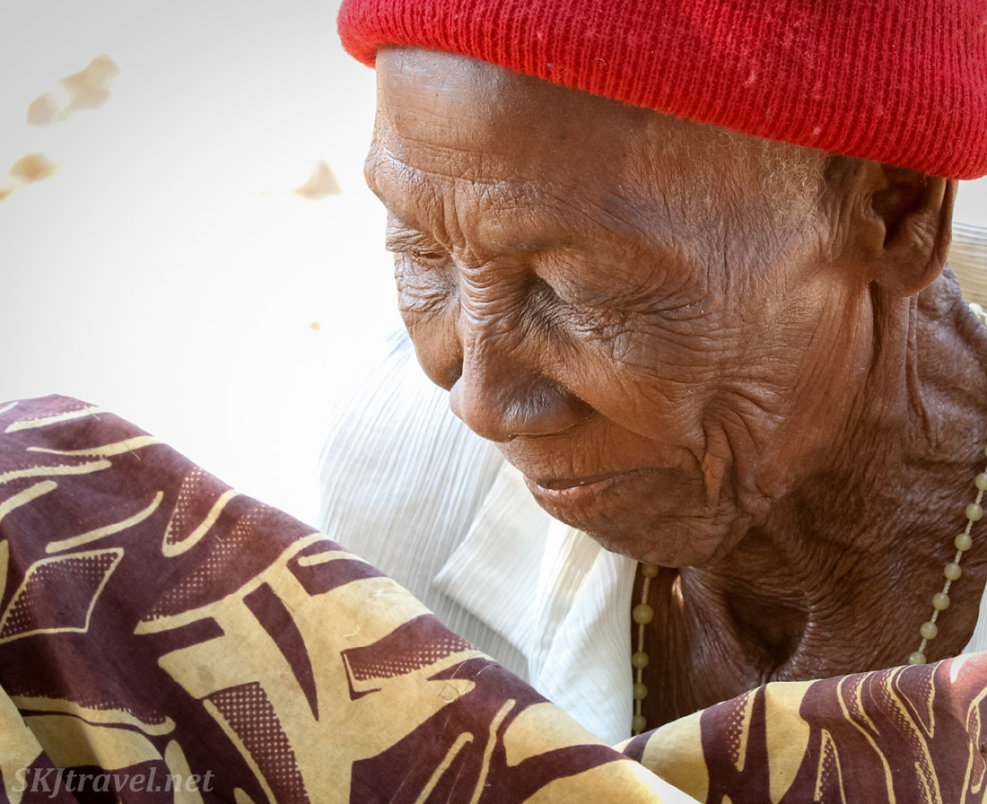 Granny Sabina, elderly woman accused of witchcraft in Divundu, Kavango region, Namibia.