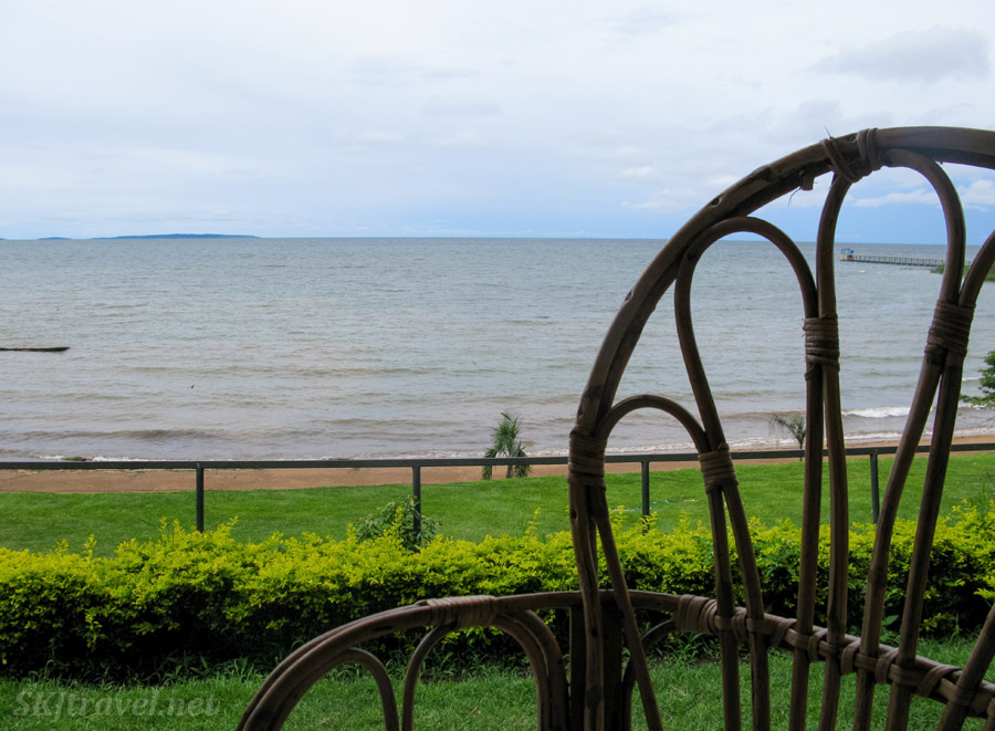 Cafe at the UWEC on the shore of Lake Victoria.