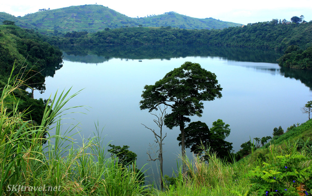 Crater lake region of Fort Portal, Uganda. The crater lake shown on the 20 shilling note of Ugandan currency.