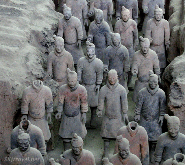 Qin Terra Cotta Warrior Army outside Xian, China.