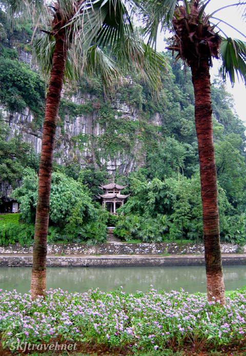 Pagoda in park in Guilin, China.