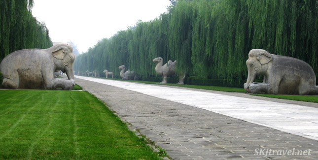 Spirit Way at the Ming Tombs outside Beijing, China.