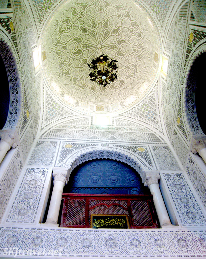 Inside a former mansion, turned carpet house, Kairouan, Tunisia.