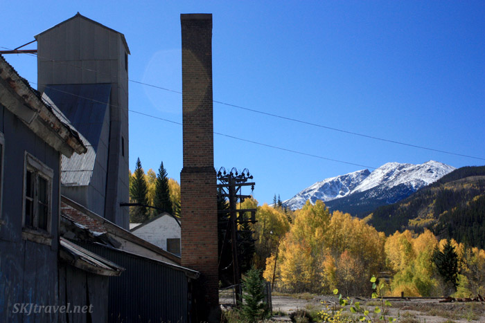 Shaft house for the Eagle Mine in Gilman, Colorado.