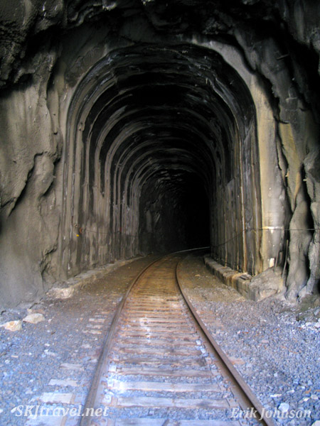Tunnel along one of the abandoned rail lines leading to Gilman, Colorado.