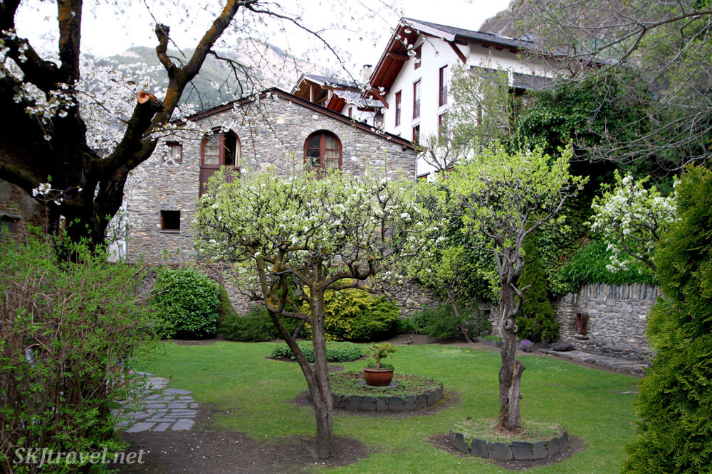 Courtyard of Casa d'Areny-Plandolit House Museum, Ordino, Andorra.