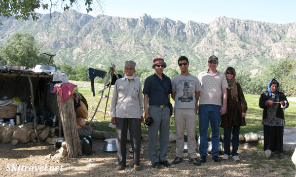Left to right: a nomad, Mr. Qajar, Reza, Erik, me, spinster daughter