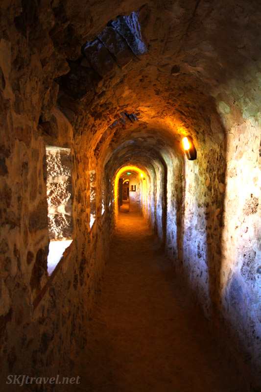 Interior passageway inside Fort Liberia at Villefranche de Conflent, France.