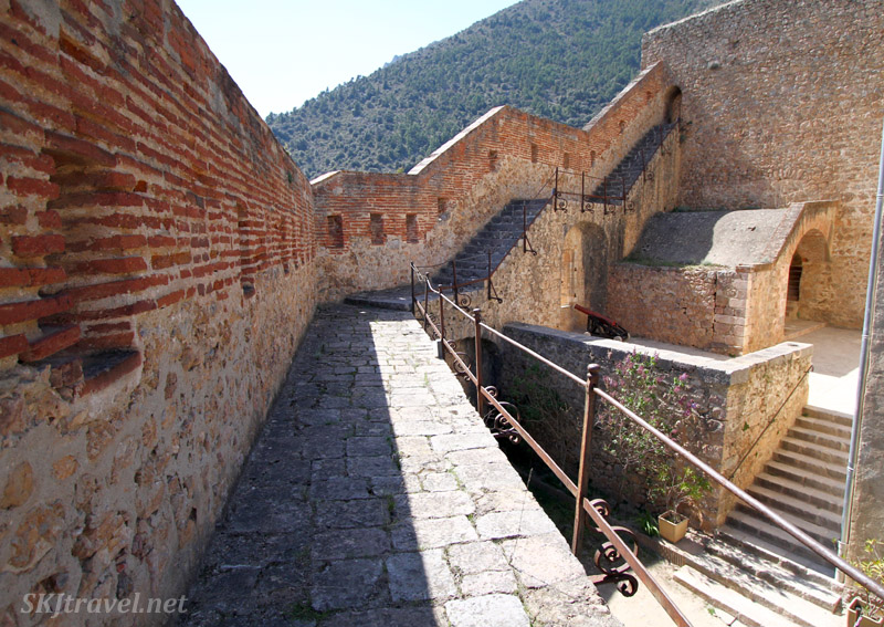 Inside Fort Liberia at Villefranche de Conflent, France.
