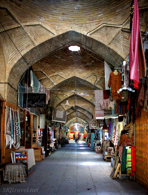 Inside the bazaar in Isfahan, Iran.