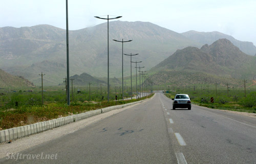 Landscape scenery along the highway in central Iran.